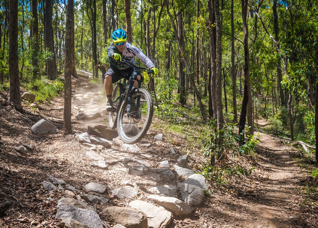 MTB Rider Gap Creek Brisbane Rock Garden