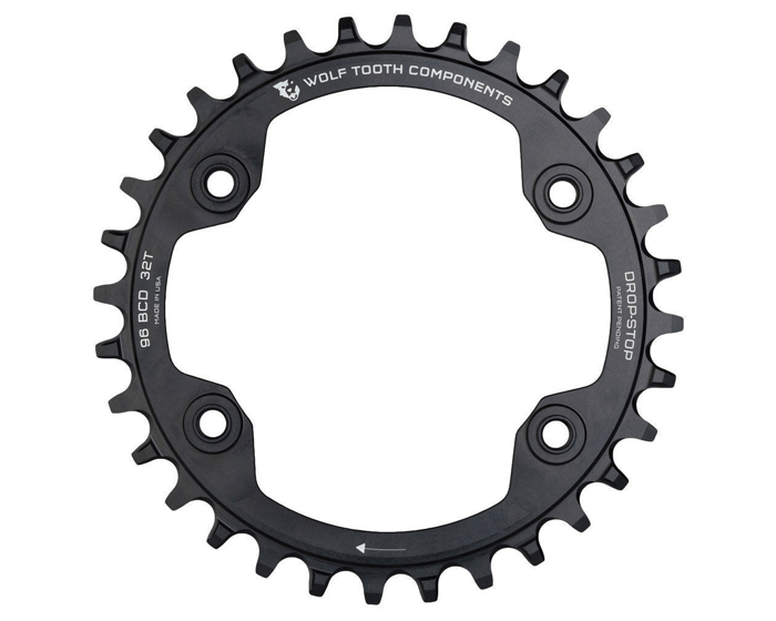 Wolf Tooth XT M8000 96 BCD Drop-Stop Chainring For The Riders