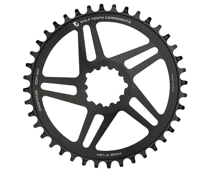Wolf Tooth Direct Mount SRAM GXP 5 Spoke Drop-Stop Chainring For The Riders