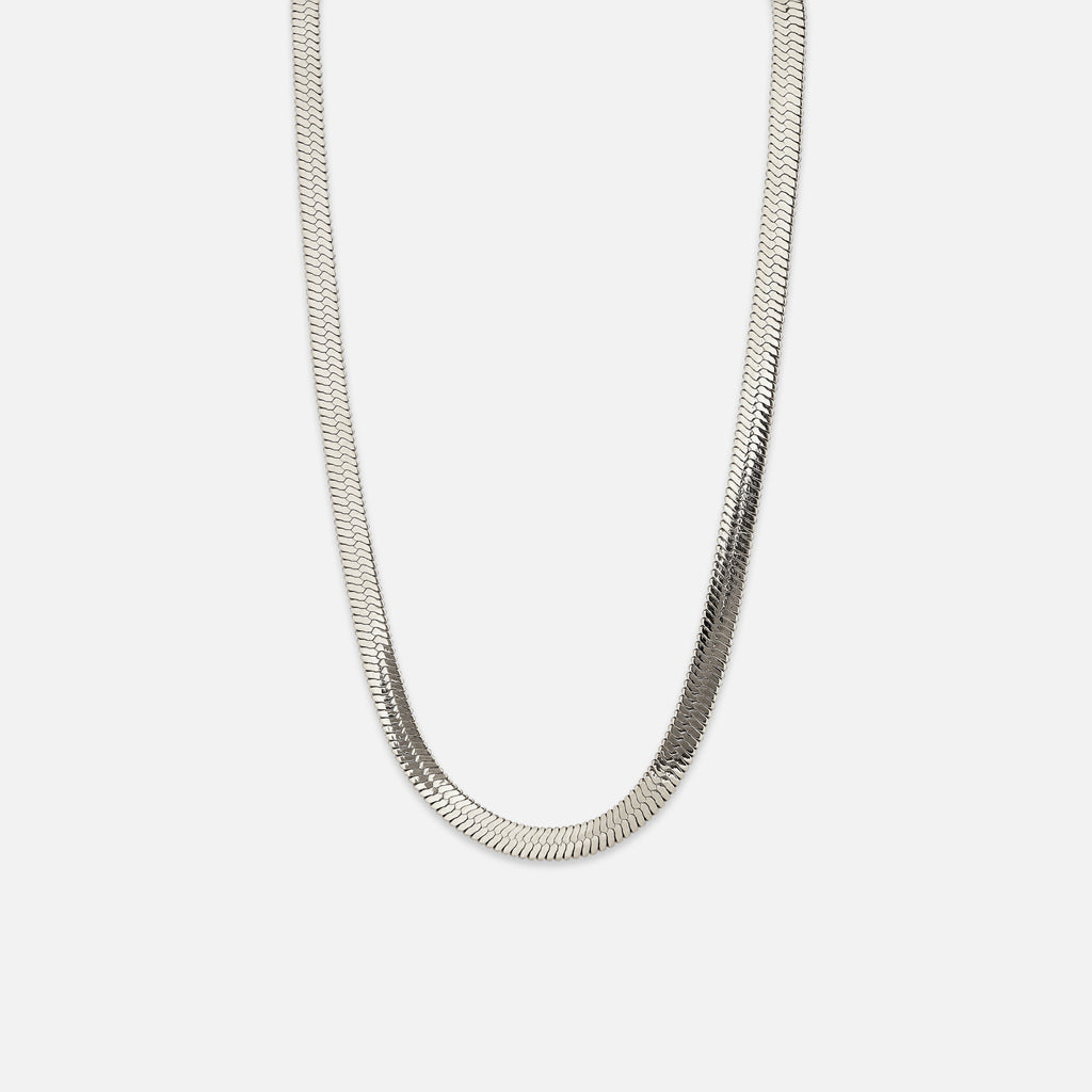 North North North IP silver plated Necklace | Hans | Herringbone Chain Necklace Silver