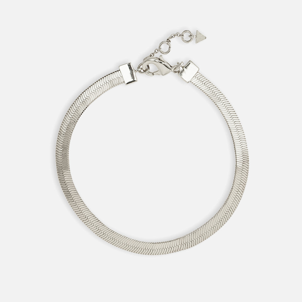 North North North Silver Bracelet | Falster | Herringbone Chain Bracelet Silver