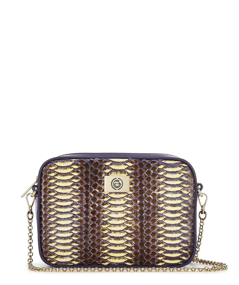 Boxy Snakeskin Leather