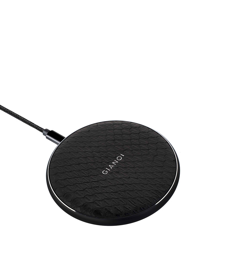 Wireless Charger Snakeskin Leather