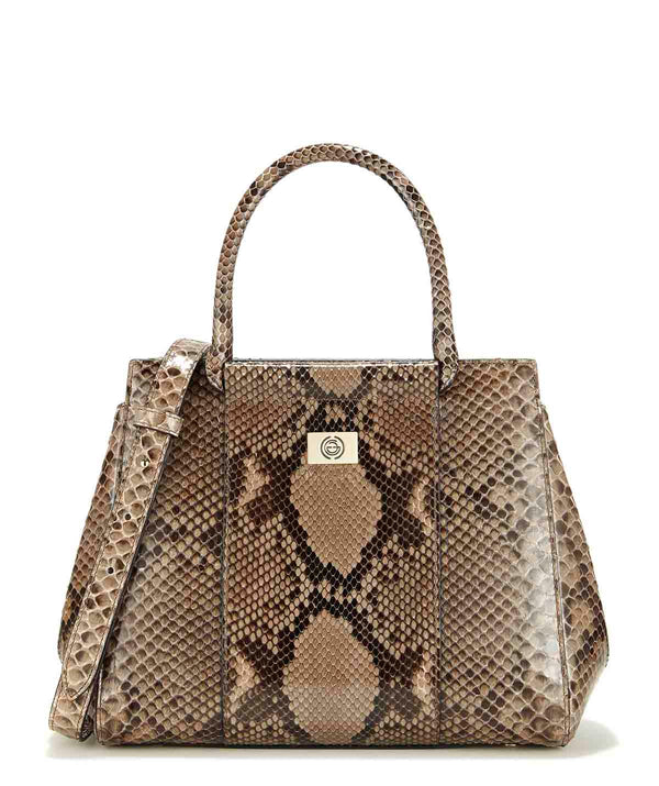 Nadia Medium Python Leather