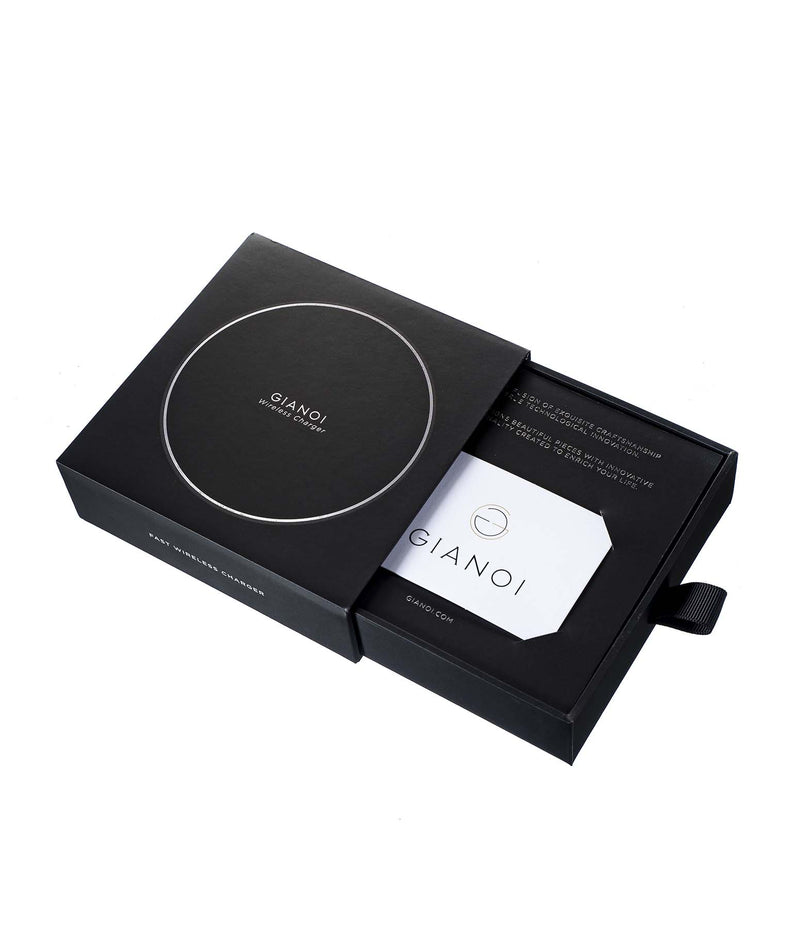 Wireless Charger Ponyskin Leather