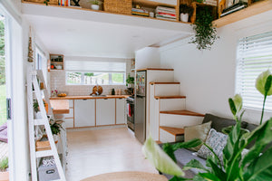 Tiny House Kitchen NZ and Storage Stairs