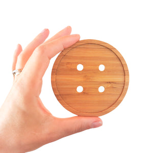 Giant Button Coasters - Set of 4