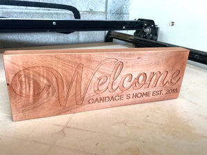 Personalised Welcome Sign - FB Special