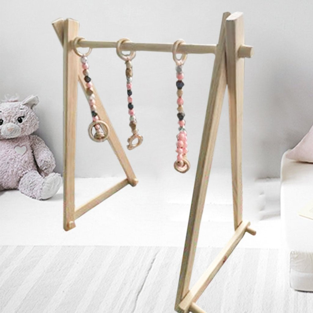 2 in 1 Wooden Play Gym and Clothes Rack - variantspaces.com