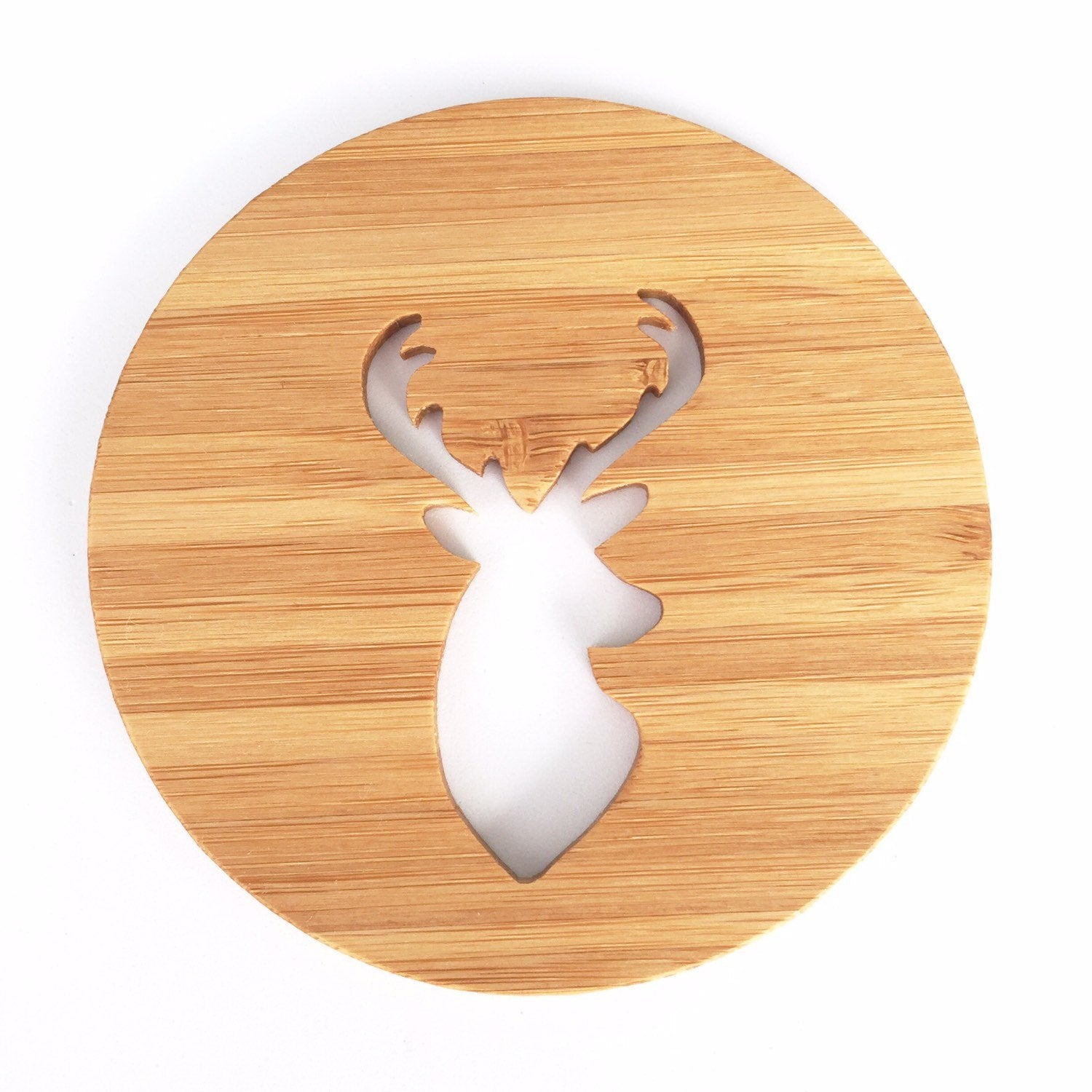 Wooden Stag Coasters - variantspaces.com