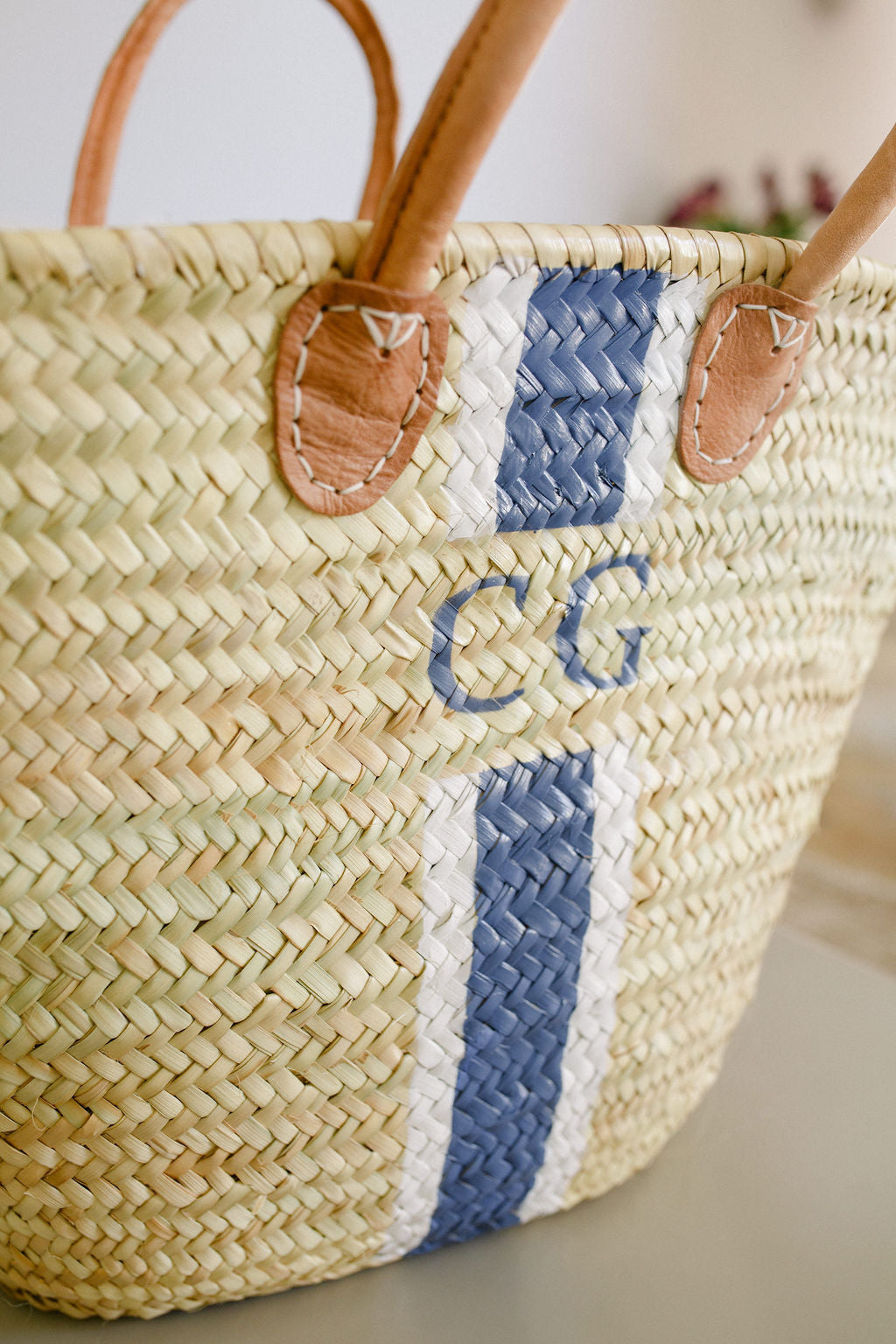The Millie Basket/ White & Navy