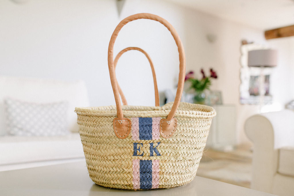 The Hattie Basket / navy & pink - Sold Out