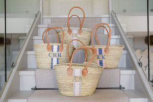 The Hattie Basket / navy & pink