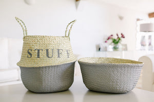 The MUMMY Belly Basket French Grey dipped