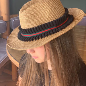 Summer Hat Black Frill