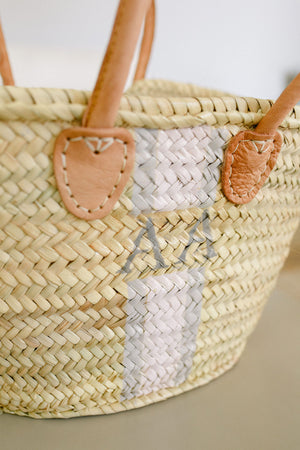 The Hattie Basket / pink & grey