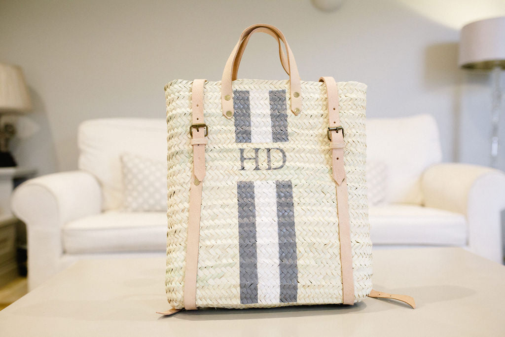 The Hattie Rucksack with monogram stripe - Sold Out