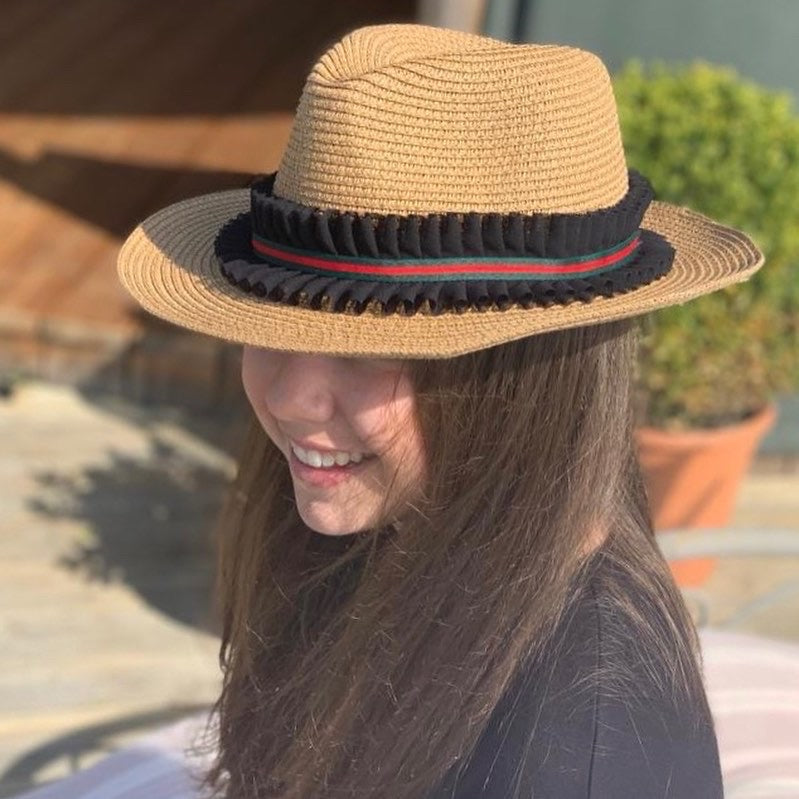 Summer Hat Black Ribbon