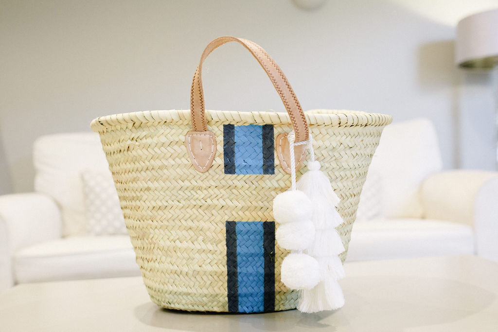 The Millie Basket Sea Blue and Navy
