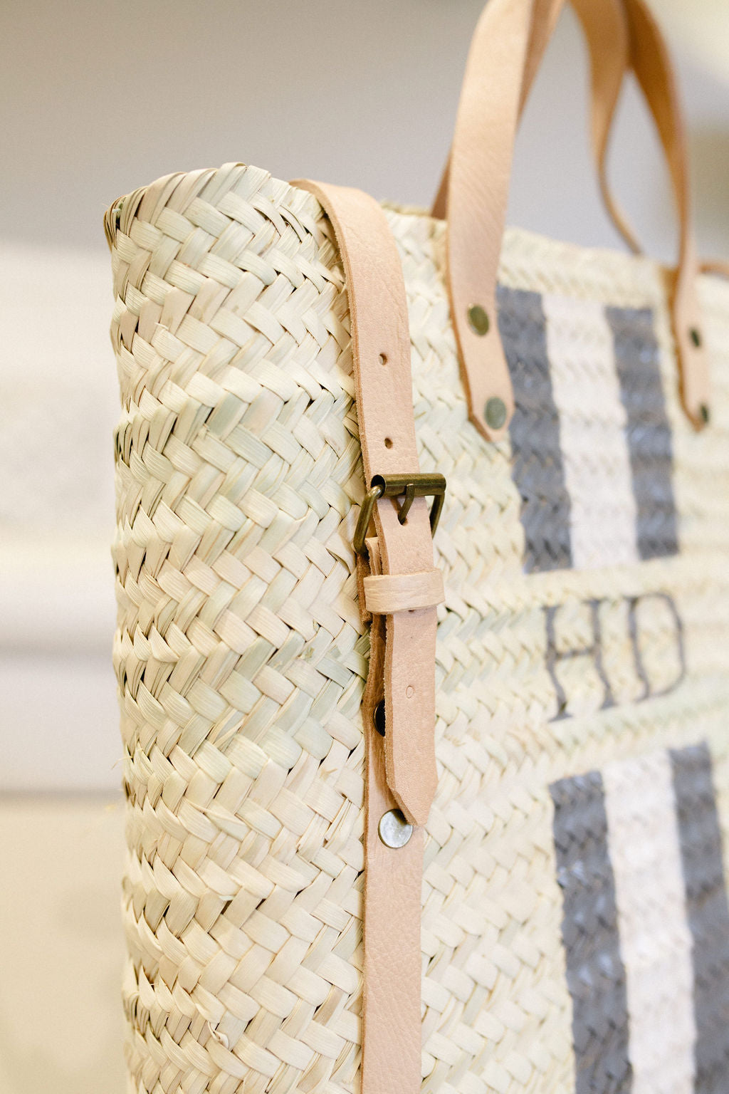 The Hattie Rucksack with monogram stripe