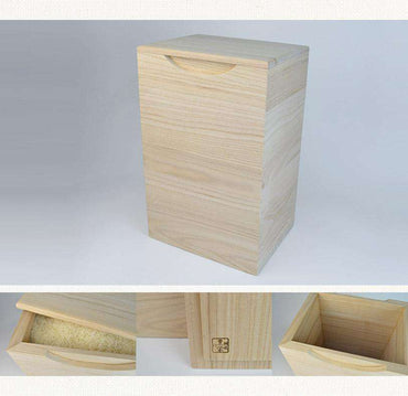 Kiri Rice Bin – Capacity of 10kg – Vertical Type, Special Made by Senshuu Tomekawa