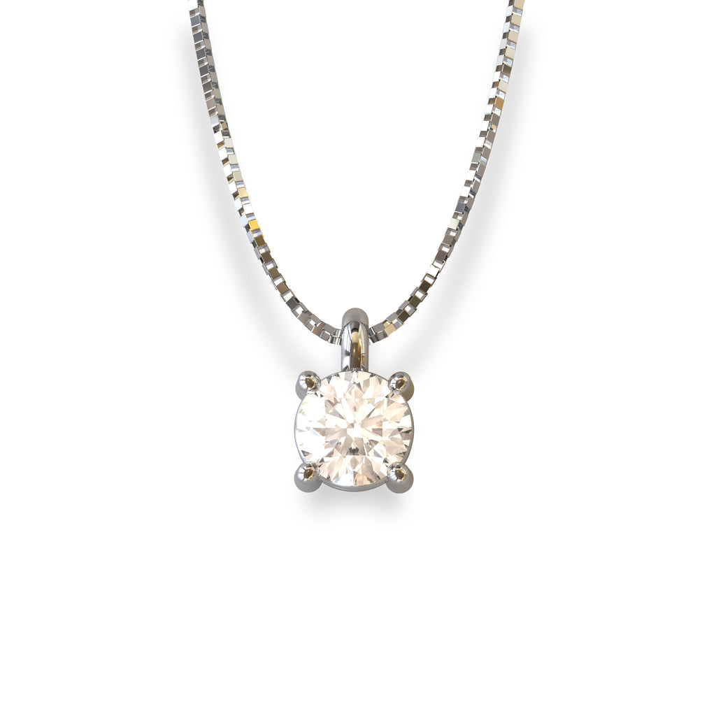 COLLANA PUNTO LUCE IN ORO 18 KT E DIAMANTE NATURALE CT 0.15 F/G VS1
