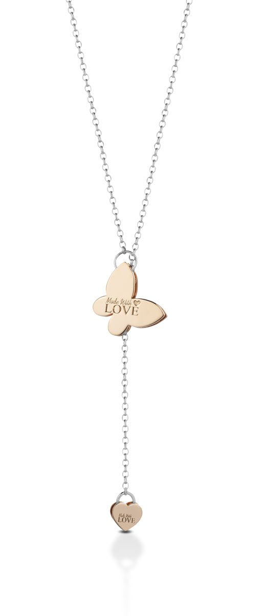 Collana saliscendi butterfly MADEWITHLOVE™