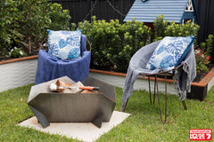 House Rules Supplier | Stahl Firepit Australia | Shayn & Carly's Exterior | Lisa and Andy Firepit | House Rules Fire Pit | Exterior Zones | Outdoor Firepit | Family Firepit | Fire Pit | Outdoor Living