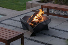 Load image into Gallery viewer, Stahl X | Newest Design | Modern Steel Fire Pit – Triangle Firepit, Designer Firepit, Contemporary Firepit, Fire Pit For Sale, Firepit Australia, Flat Pack Firepit, Metal Firepit, Outdoor Firepit Australia, Outdoor Fireplace, Portable Firepit