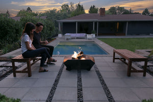Stahl X Firepit | Australian Outdoor Living | Triangle Firepit | Steel Firepit | Metal Firepit | Outdoor Fireplace