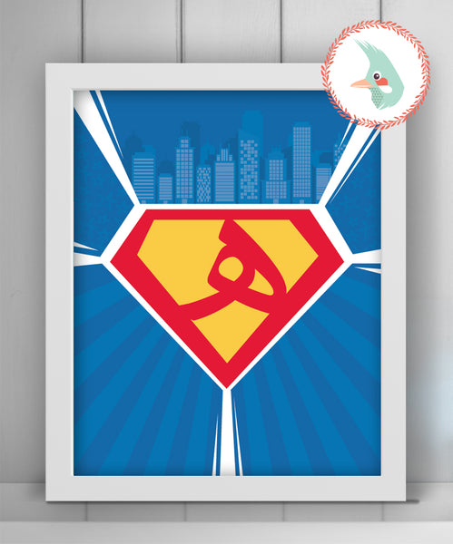 Personalized Superman Logo {DIGITAL}