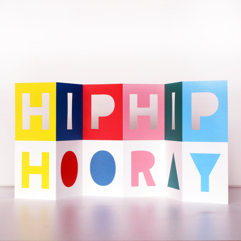"Faltkarte ""HIP HIP HOORAY"""