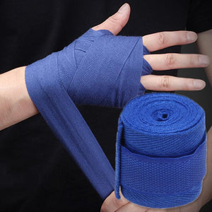1pc 2.5M Cotton kick boxing bandage wrist straps Sport Strap Boxing Bandage Muay MMA Taekwondo Hand Gloves Wraps Hand Protection