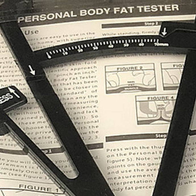 Body Fat Caliper Mass Measuring Body Skinfold Measurement Health Care Tools Tape Tester Fitness Weight Loss Square Black