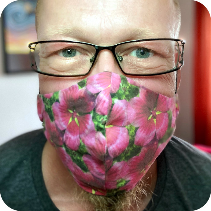 Pink Flower Non-Medical Face Mask
