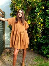 Castaways Beach Baby Dress Rust Brown