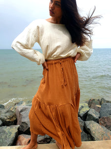 Castaways Maxi Skirt Rust