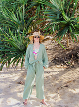 Castaways Blouse in Sea Green