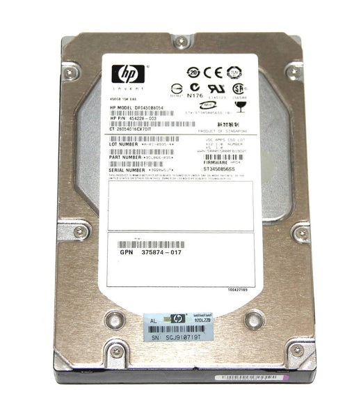 HP 450GB 15K SAS 3.5 Hard Drive (454228-003)