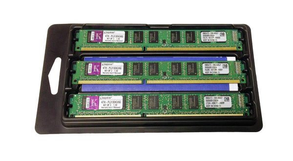 6Gb Kit (3 X 2Gb) PC3-10600 DDR3-1333MHz ECC Unbuffered Cl9 240-Pin (KTH-PL313EK3/6G)