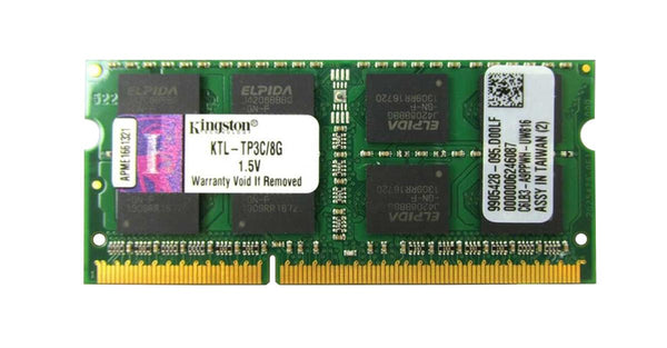 Kingston 8GB PC3 12800 DDR3 1600MHz Non-Ecc Unbuffered SODIMM Memory. (KTL-TP3C/8G)