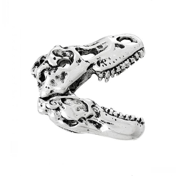 new  Charm Pendants Dinosaur Skull Halloween Antique Silver 3.5cm x 3.2cm(1 3/8