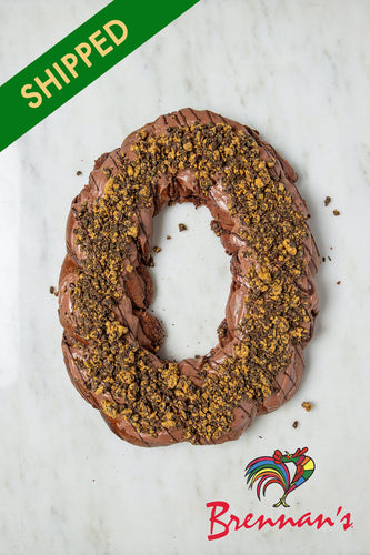 SHIPPED - Chocolate 'Black & Gold' King Cake