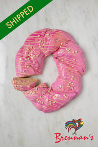 SHIPPED - 'Pink Parade' Strawberry Cream Cheese King Cake
