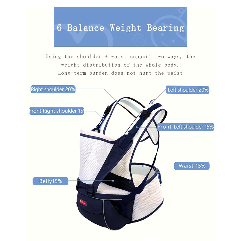 Breathable Stylish Baby Carrier - SV12132
