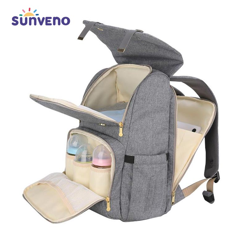 Multicolor Solid Water-resistant Mummy Backpack - SV5807