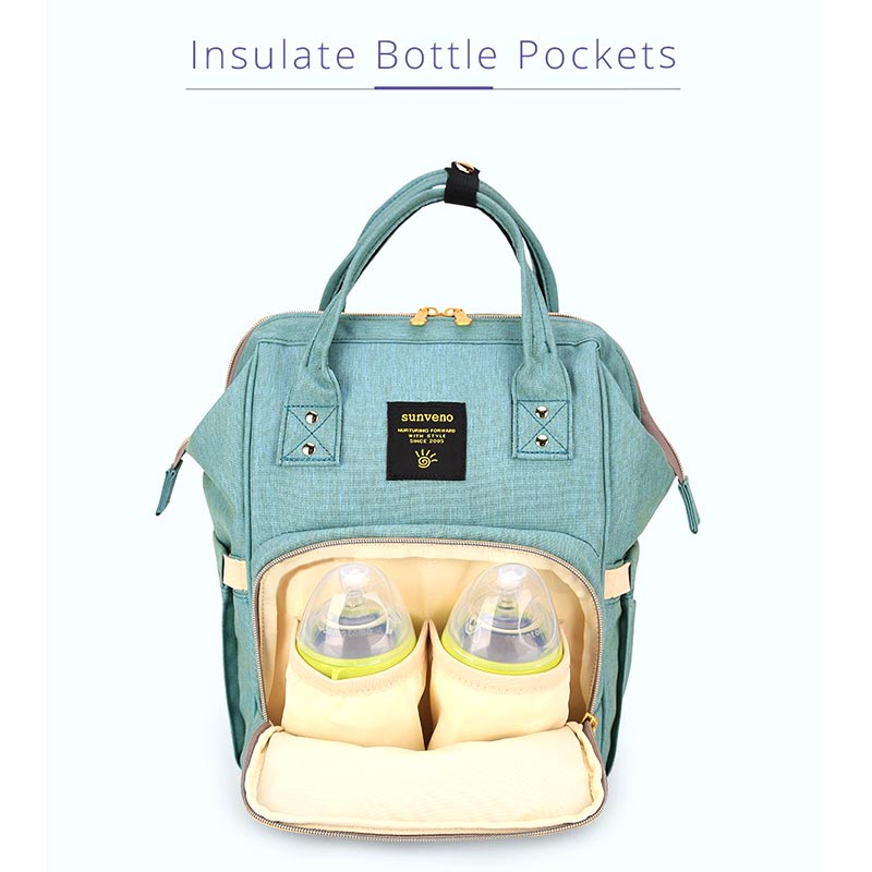 Waterproof Insulate Bottle Pockets Multicolor Diaper Backpack - SV7911