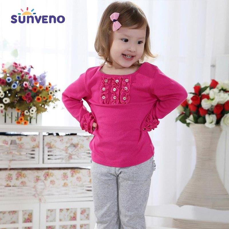 Stylish & Comfortable Full Sleeve Cotton T-Shirts for Girls - SV1968