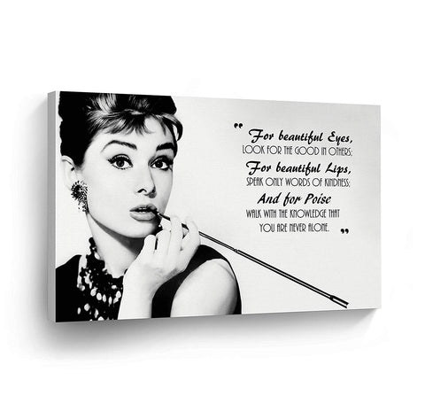 Audrey Hepburn Beauty Dressing Table Quote