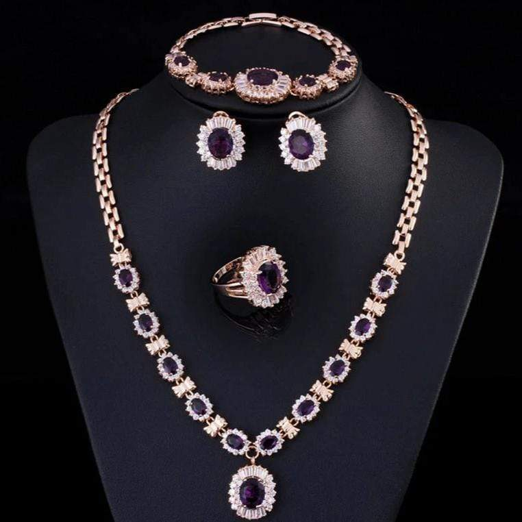 CZ Royal Princess 4 Piece Jewelry Set - 3DVanity.com